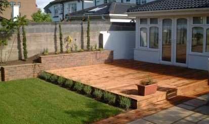 Decking garden decking installation essex se for Garden decking projects