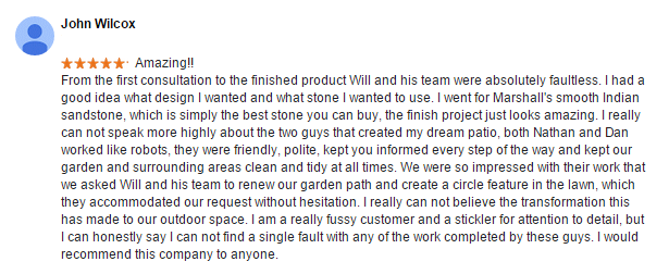 Rayleigh Landscaping Testimonial (full size)