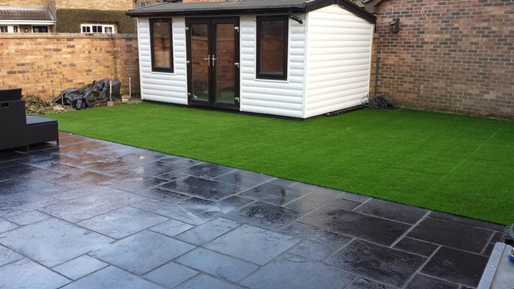 Artificial grass in Wickford (after)