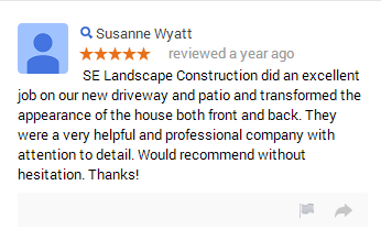 SE Landscape Construction Driveway Testimonial Essex