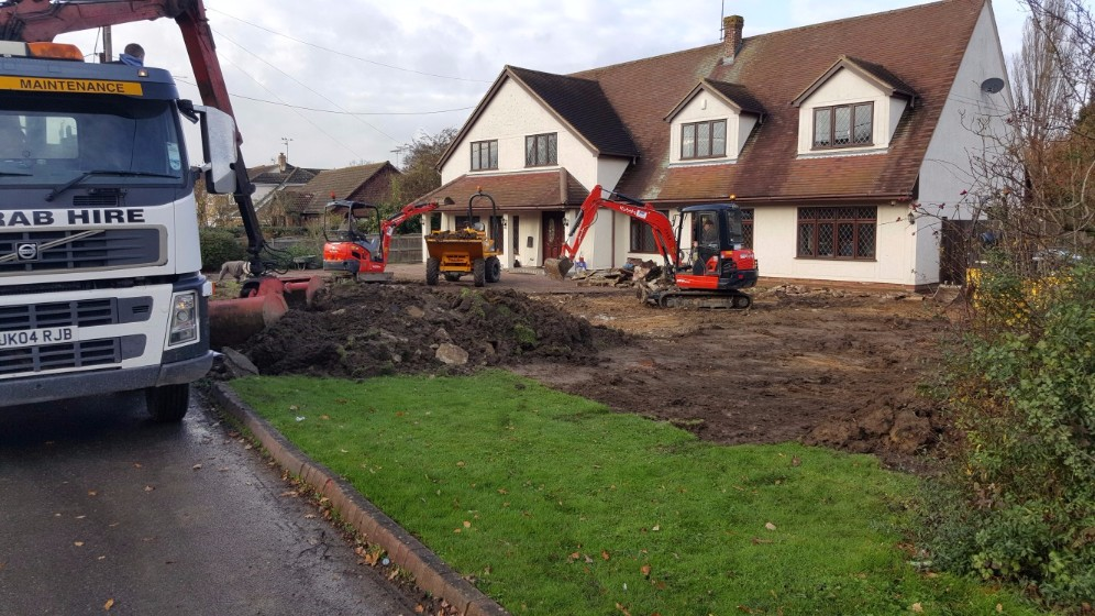 grab lorry for excavations gravel driveway cost