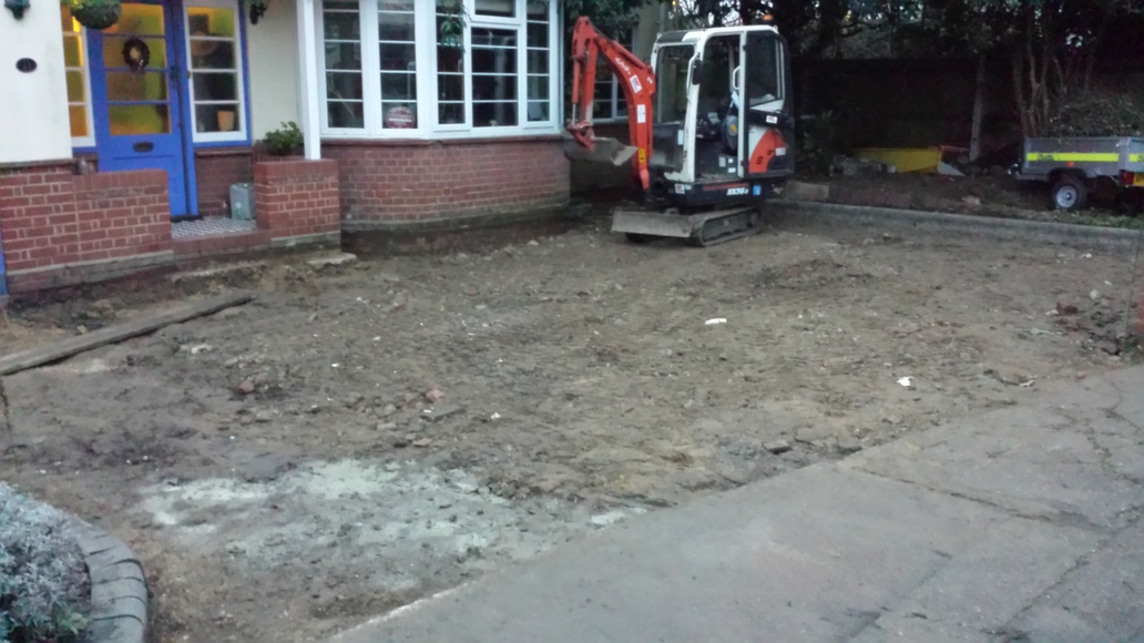 Gravel Driveway - Step 1 -Dig out
