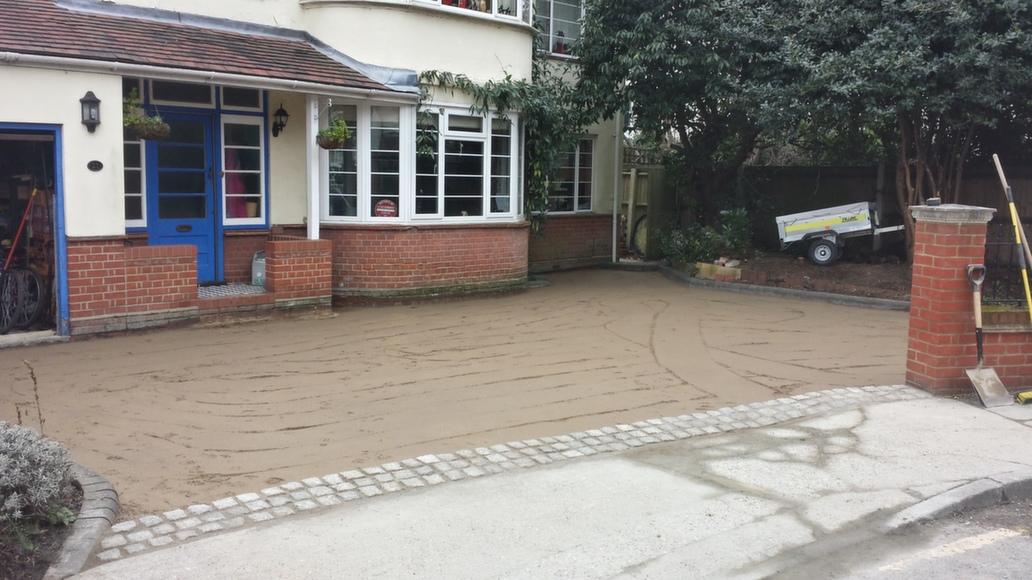 Gravel Driveway - Step 3 - Sharp Sand