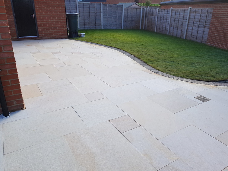 Sandblasted Sandstone Patio in Chelmsford