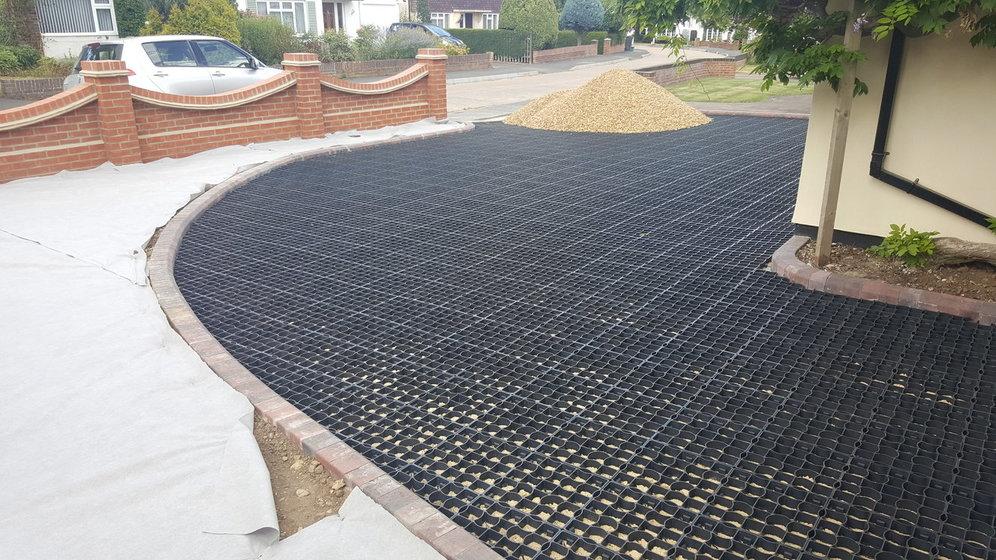 ecogrid gravel driveway system