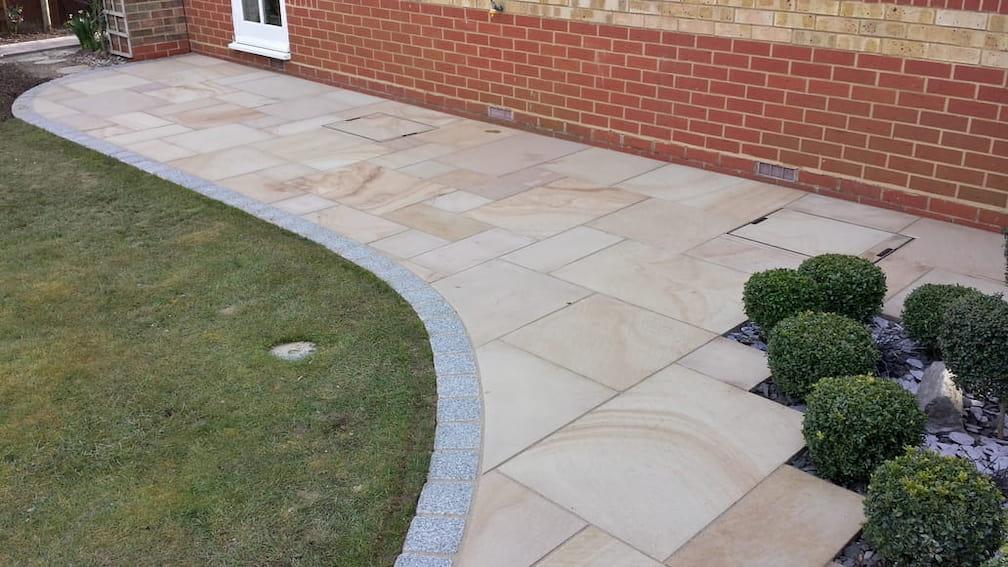 Sandstone patio - rayleigh